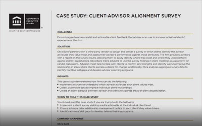 VIP Forum Case Study: The Penny Group's Client-Advisor Alignment Survey