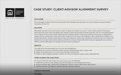 VIP Forum Case Study: The Penny Group's Client-Advisor Alignment Survey